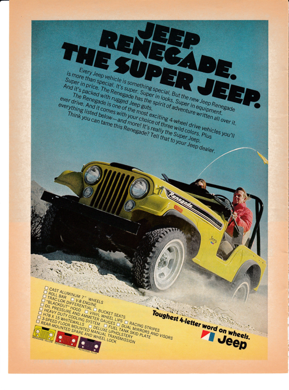 1972 Jeep Renegade The Super Jeep 4 Wheel Drive V 8 Engine