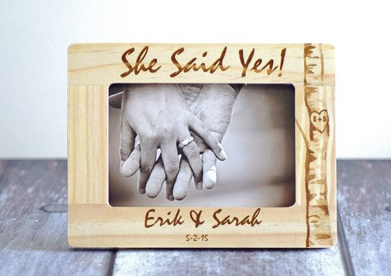 Engagement gift, She said Yes, Gift for couple, Engagement gift ...