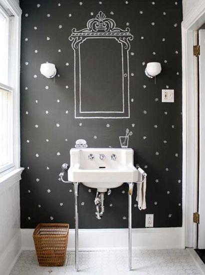 Blackboard paint in the bathroom