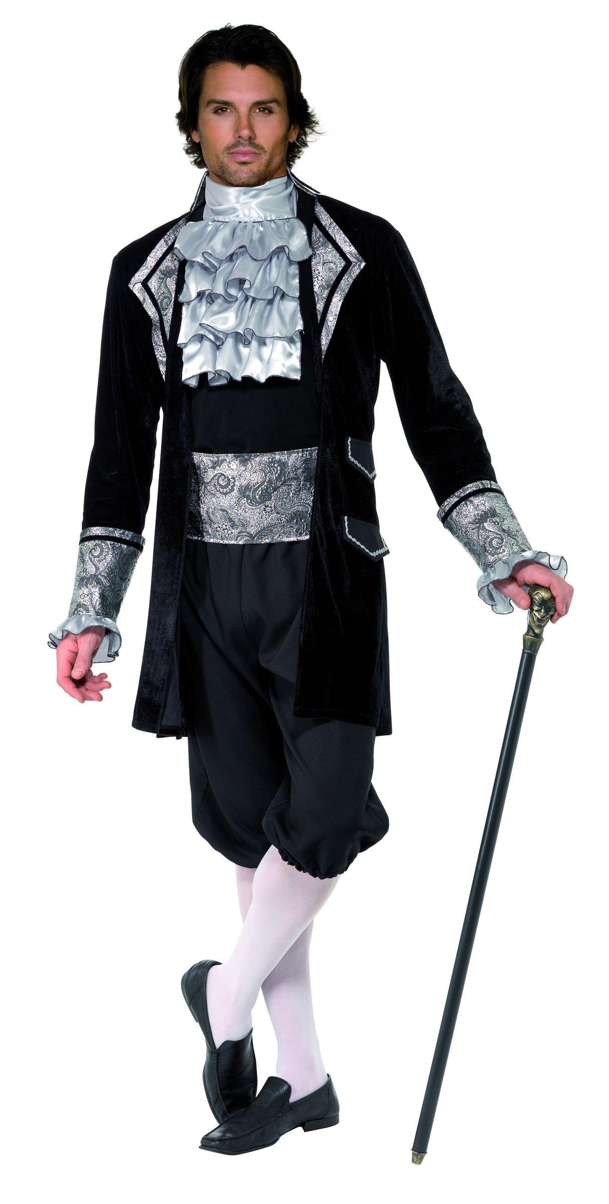 Costume vampiro barocco uomo Halloween  Lussuoso costume da vampiro per  uomo in stile barocco  513bfc09ea4a