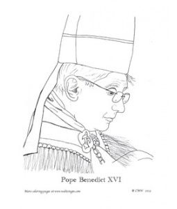 holy father catholic coloring page its supposed to be his holiness pope emeritus benedict xvi - Father Coloring Page Catholic