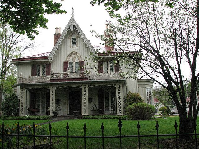 Henry Delameter House Gothic House Victorian Homes Victorian Architecture
