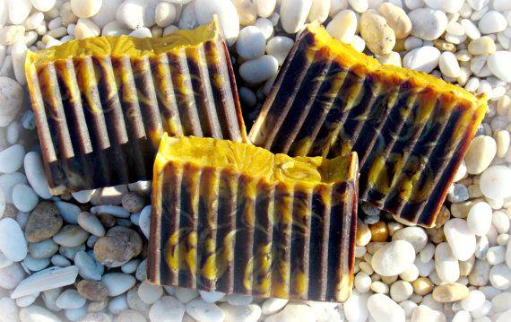 Chocolate Tangerine Bar Soap 4 oz bar soap Handmade by KiltedSuds