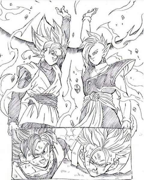 Goku Black and Zamasu vs Goku and Trunks   Dragon Ball Z   Dragon ...