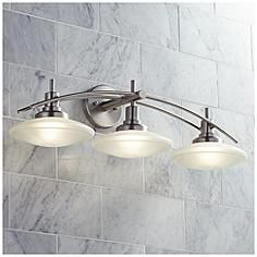 Structures Nickel 30 Wide Bathroom Light Fixture The Urban