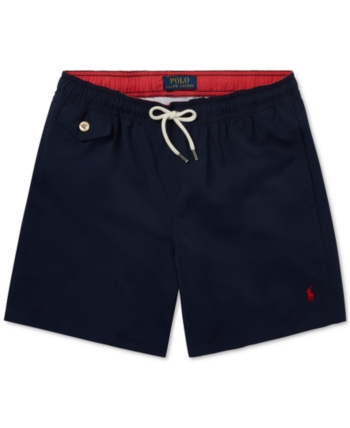 2792cc38cf Polo Ralph Lauren Big Boys Traveler Twill Swim Trunks - Haven Green ...