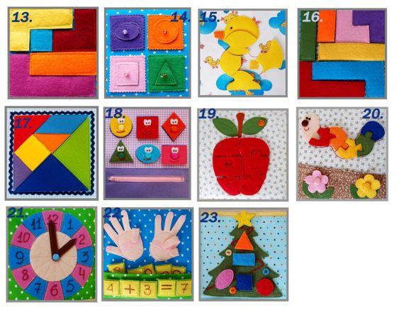 Ein ruhiges Buch ist das erste Buch im Leben des Kindes. Es ist wie eine tragbare Sammlung von lustigen Bildern und Bildungsaktivitäten für Kinder zu genießen.  Dieses weiche Babybuch bietet praktischen Erfahrung im erkennen von Formen, knöpfte schnappen, Flechten und Texturen zu unterscheiden. Dies ist eine gute sensorische Spielzeug für das Baby zu helfen, um die Feinmotorik und kognitiven Fähigkeiten, Farbe und Form-Identifikation, Verhalten und mentalen Logik, sowie Phantasie zu…