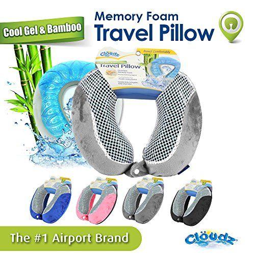 memory foam travel pillow grey