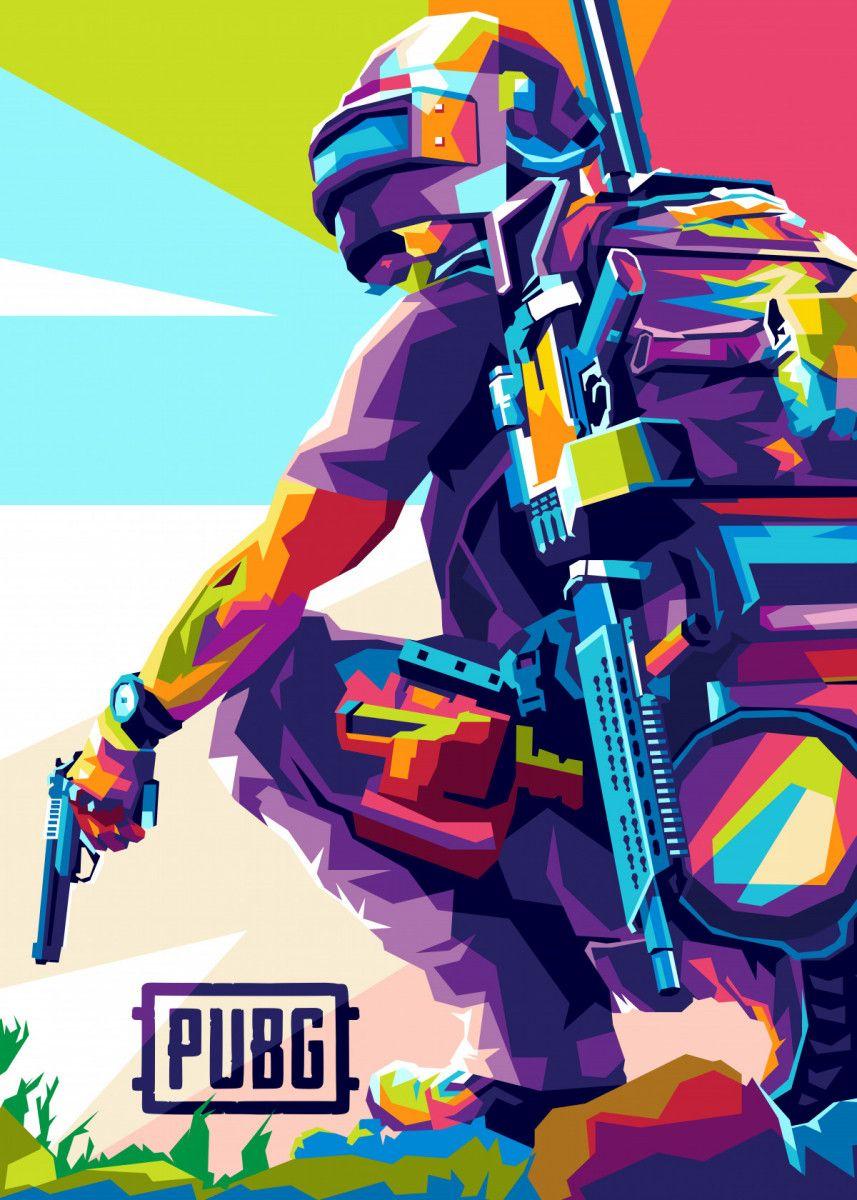 Pubg Mobile Gaming Poster By Wpap Me Displate Superhero Wallpaper Iphone Phone Wallpaper For Men Mobile Legend Wallpaper
