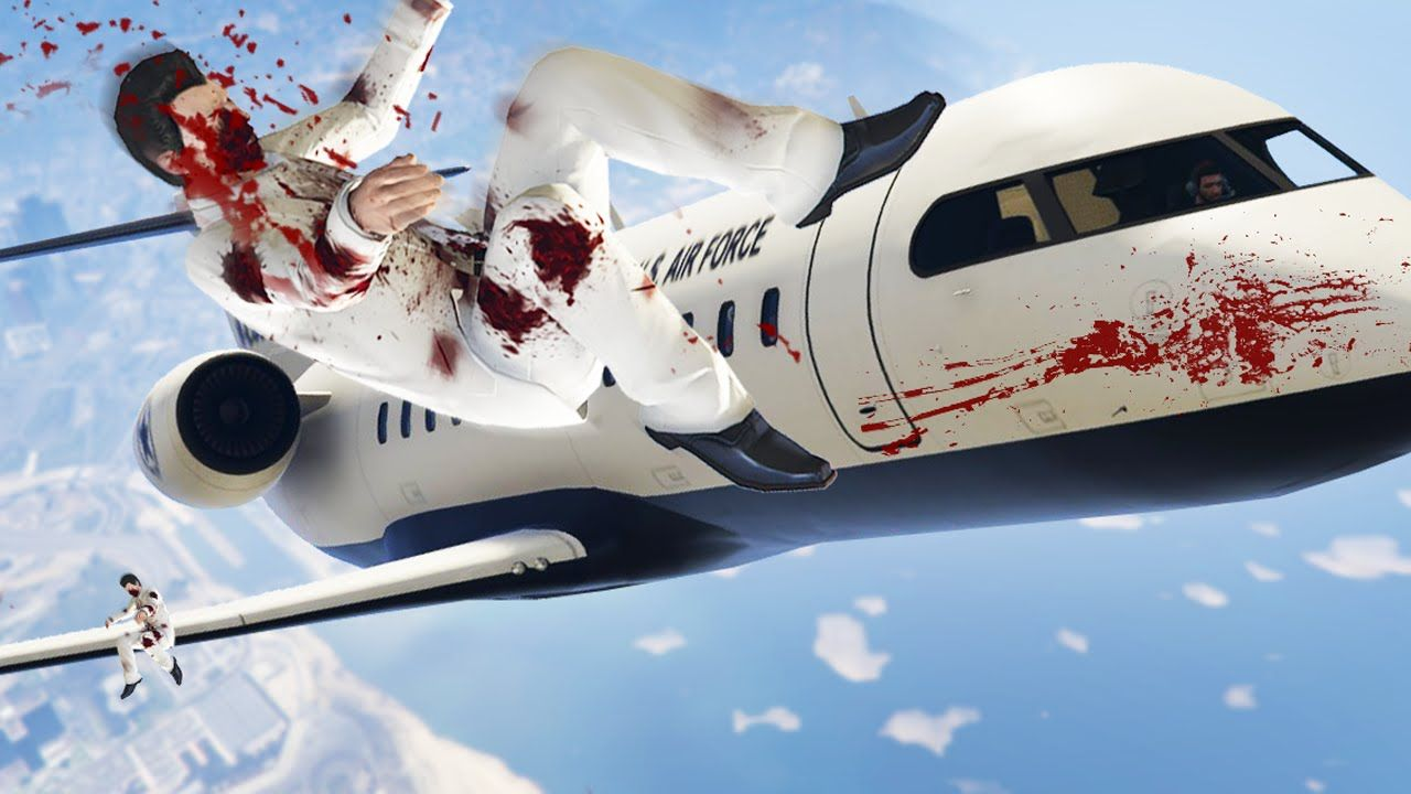 FLY THE PRIVATE JETS INTO THE SNIPERS! (GTA 5 Funny Moments