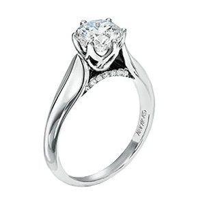 Flower Diamond Engagement Ring #rings #ring #jewelry