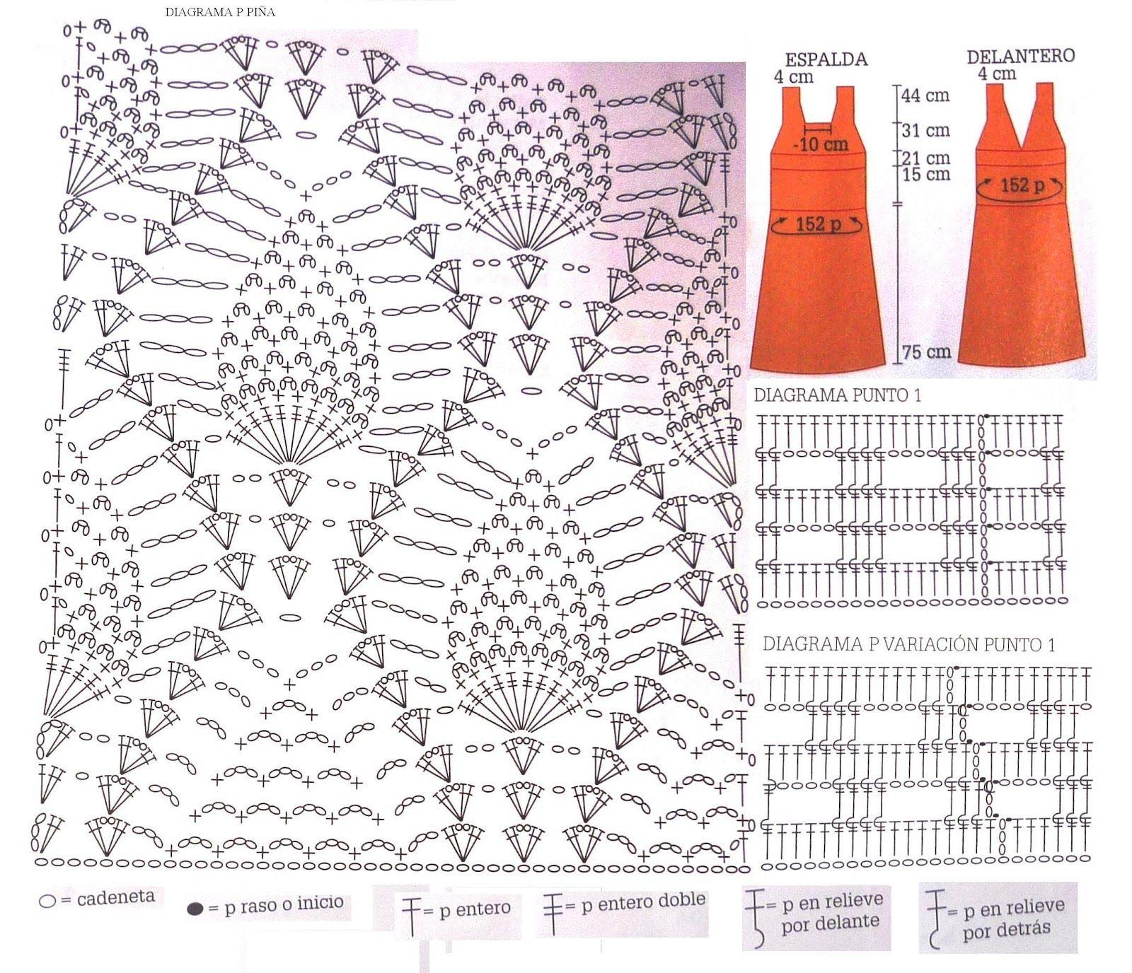 Único Patrón Superior Crochet Piña Imágenes - Manta de Tejer Patrón ...