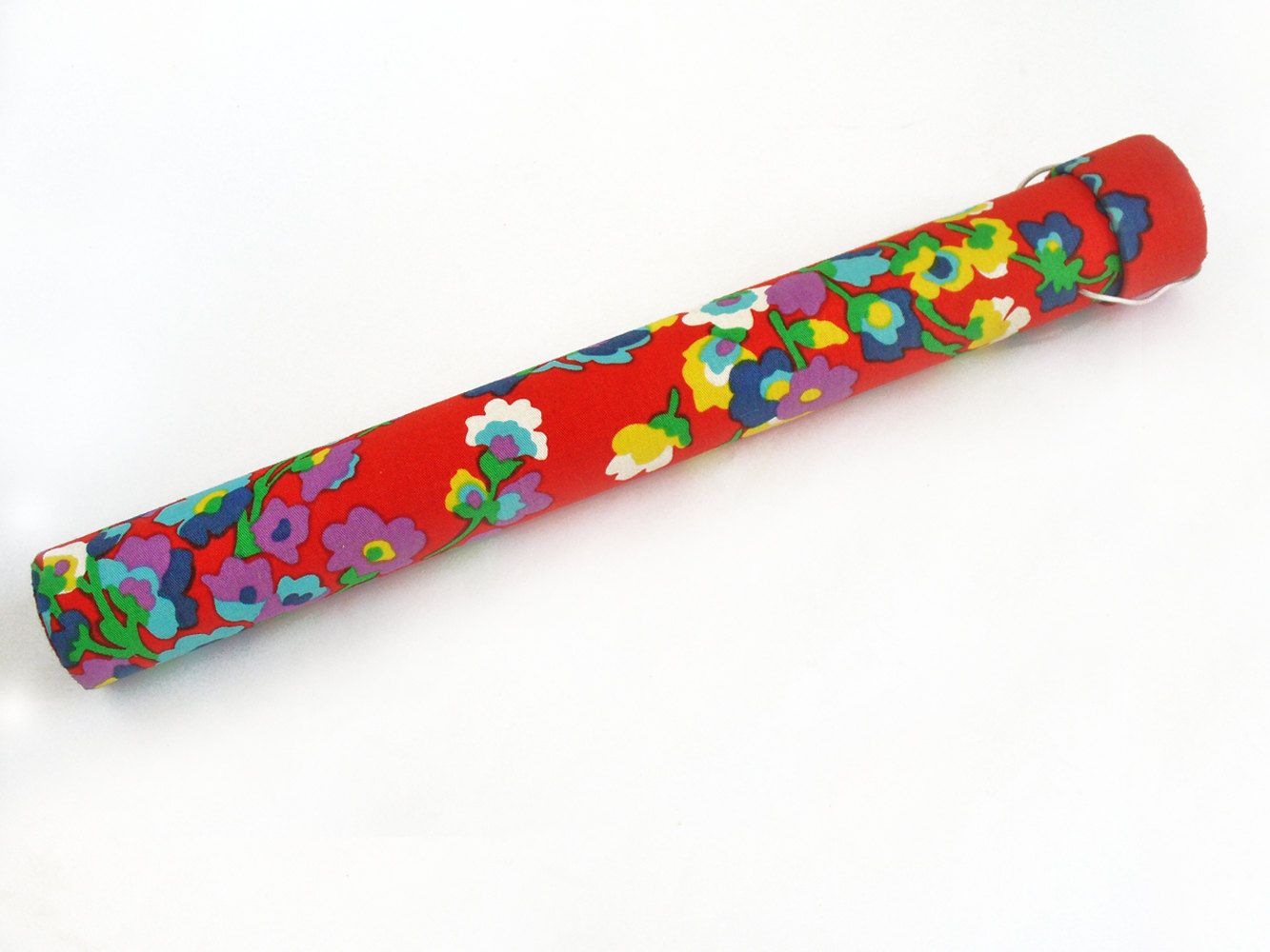 Knitting needle case - fabric covered cardboard storage tube ...