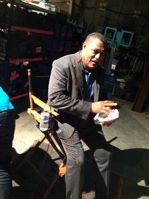 "Laurence Fishburne ||| Behind the Scenes of Hannibal 2x01 ""Kaiseki"""