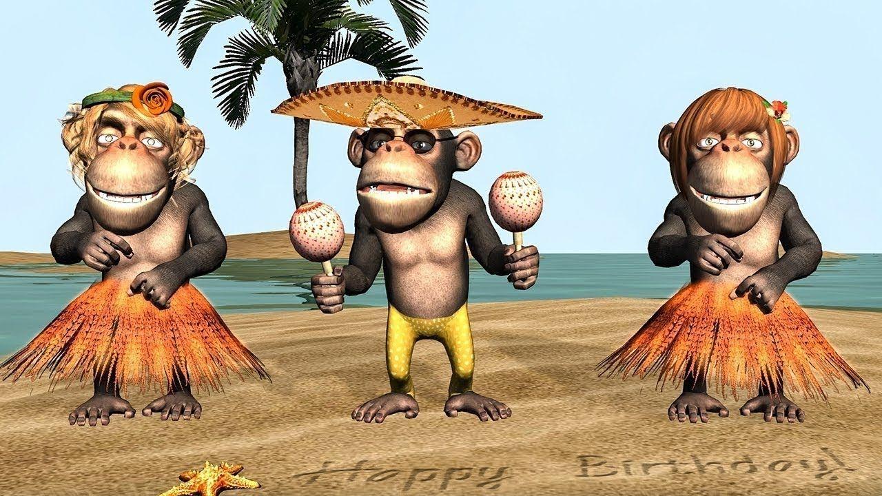 Mignon chimpanzé joyeux anniversaire carte de vœux fun tracks greetings cards