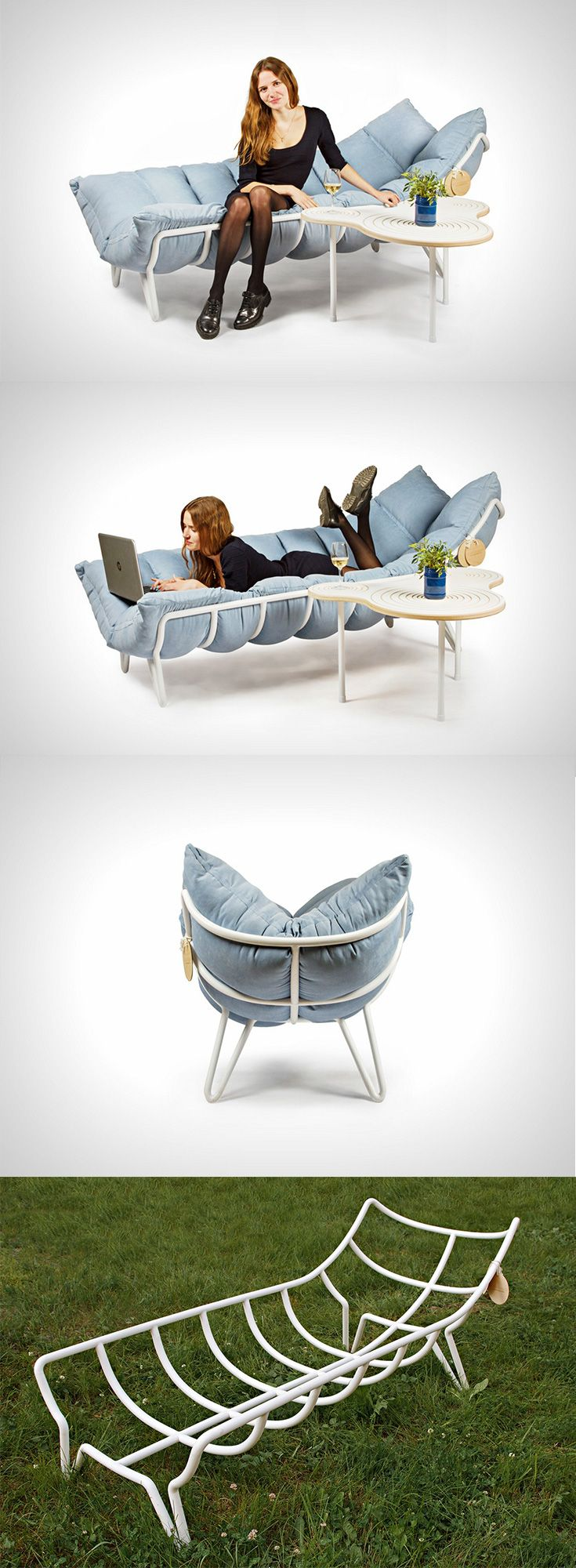 The \u0027Inchworm Shezlong\u0027 (Chaise-Lounge) is a chair which is just a ...