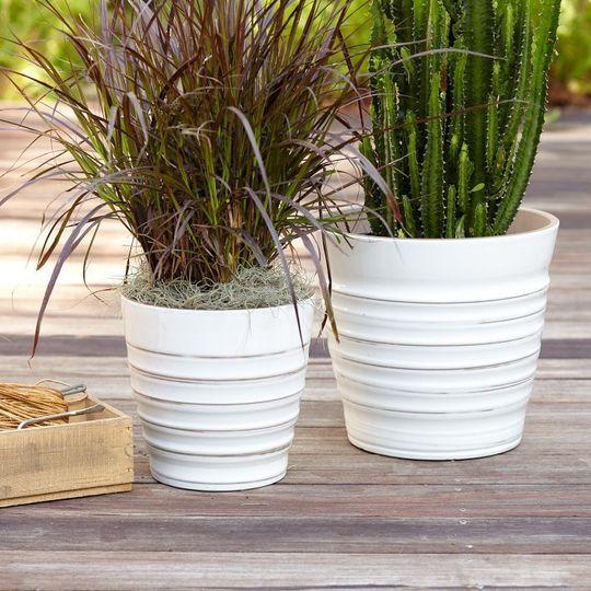 Modern Garden White Pots Planters Planter Pots Planter Pots Indoor Modern Garden