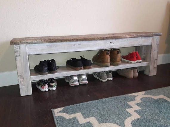 Farmhouse Storage Bench Shoe Storage Storage Bench Bench With Shoe Storage Bench With Storage