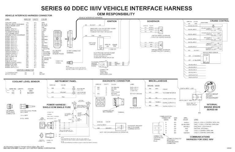 detroit diesel series 60 ecm wiring diagram copy unique