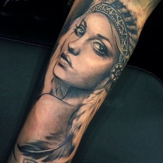 American indian tattoos tattoo artists inked magazine for Indian ink tattoo