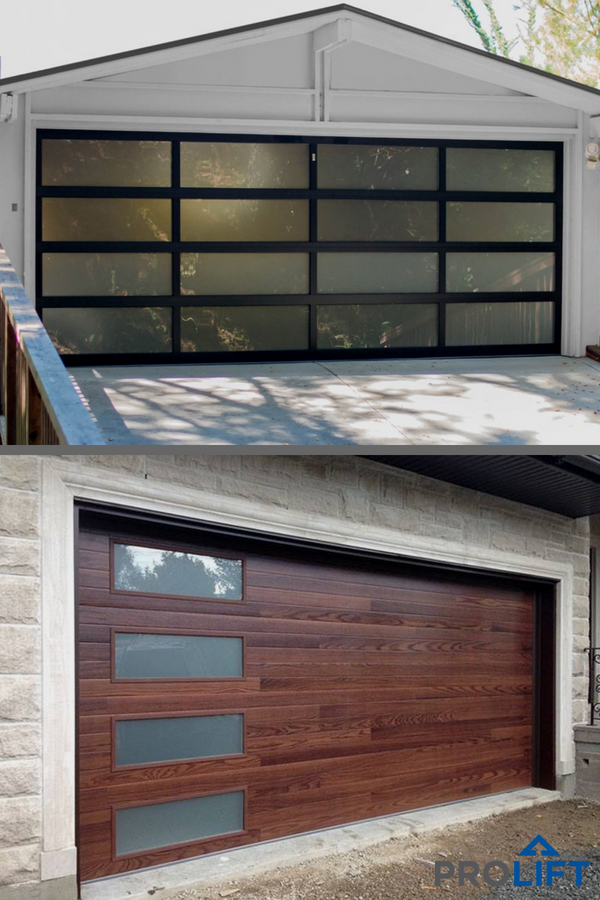 Do You Know Your Options When It Comes To Garage Doors Designed With Glass Panels Vs Garage Door Panels D Glass Garage Door Garage Doors Faux Wood Garage Door