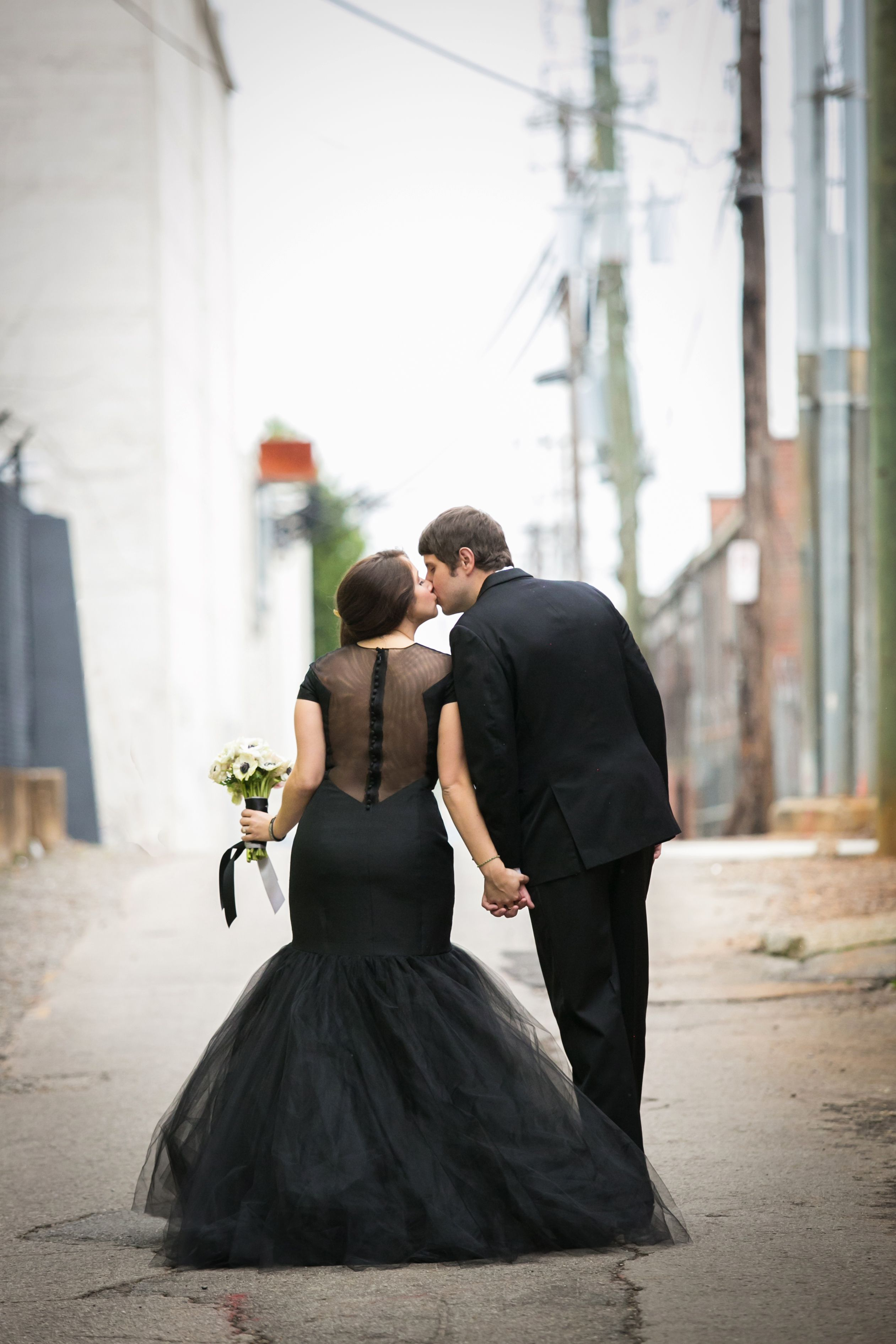 Hey I Found My Black Wedding Dress On Pinterst Image Provided By The Bride Photo Cred Stunning Wedding Dresses Black Wedding Dresses Colored Wedding Dresses