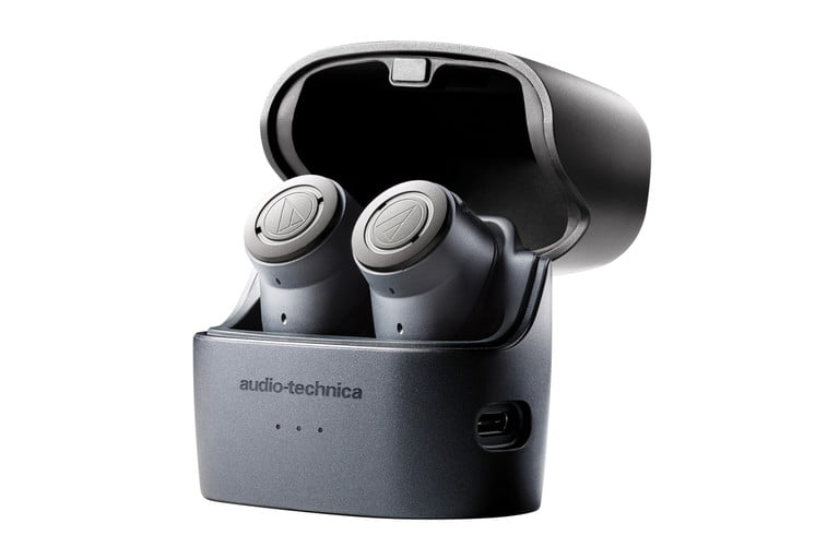 Audio Technica Debuts Its First True Wireless Earbuds With Anc Digital Trends In 2020 Earbuds Audio Technica Wireless Earbuds
