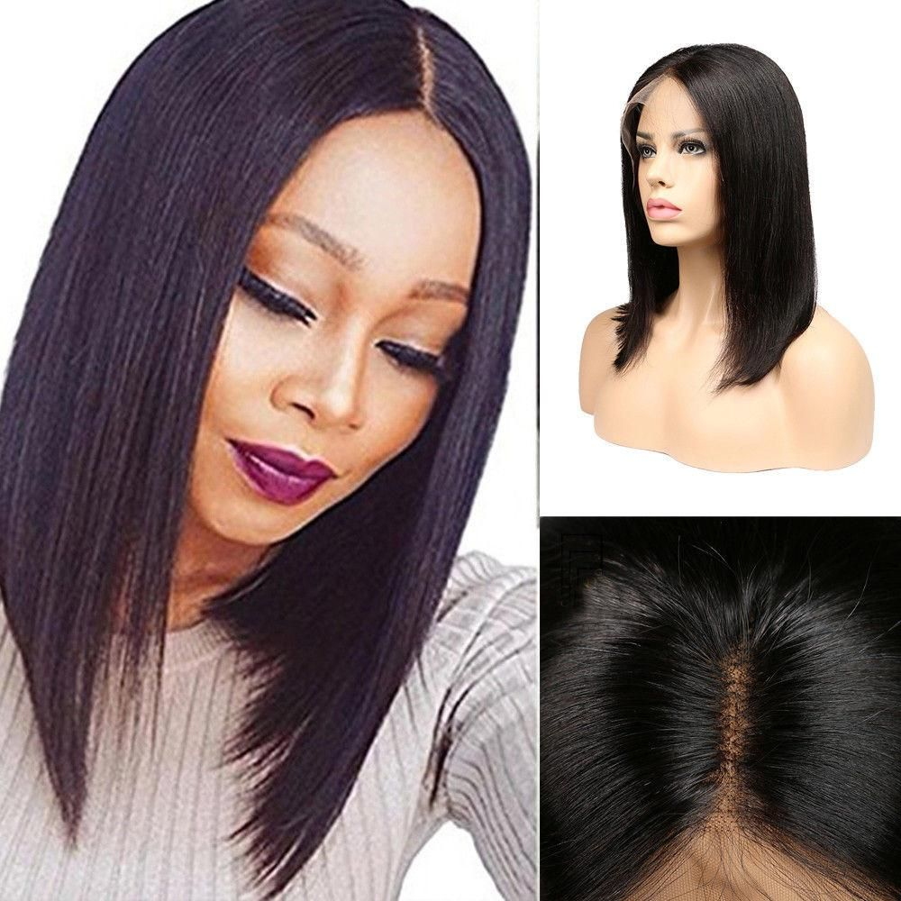 100% lace front human hair brazilian bob wig in 2019