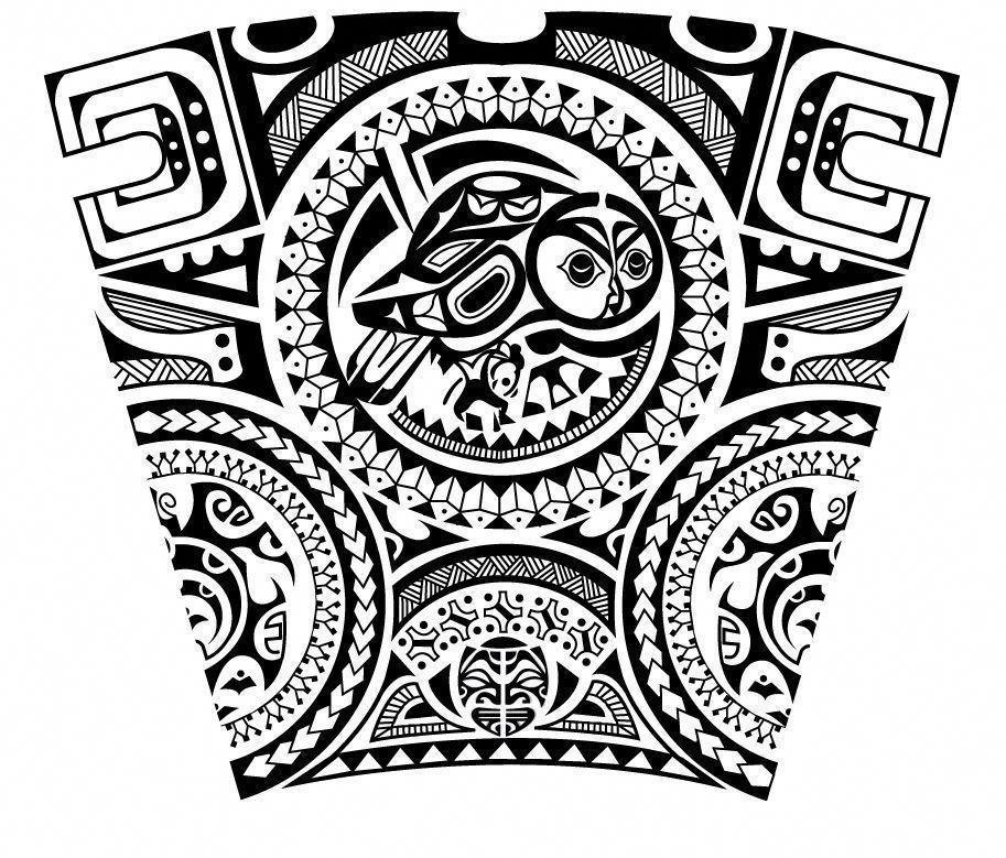 Polynesian Maori Forearm Sleeve Tattoo Design. Designer