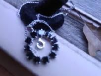 $9.99 18 INCH 925 STERLING SILVER CHAIN, NOT PLATED, THE REAL DEAL! THE PENDANT IS ABOUT 1.5 INCHES OR SO AND IS THE ETERNITY CIRCLE IN BLACK CZ, AMAZING NECKLACE! PENDANT ALONE SELLS FOR $20 WHOLESALE! THE CHAIN IS $15 ALONE, BRAND NEW