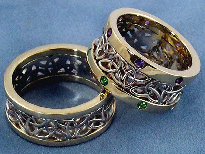 Celtic Wedding Sets Rings rings Pinterest Celtic wedding