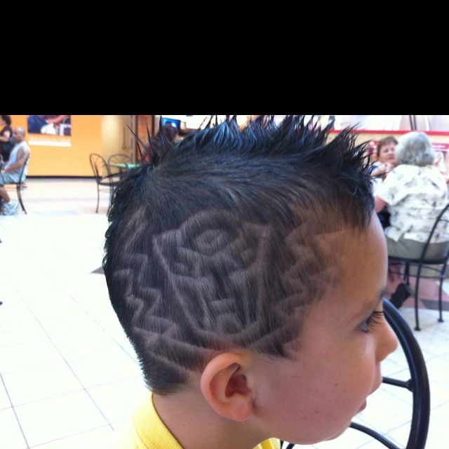 great hair design little boys