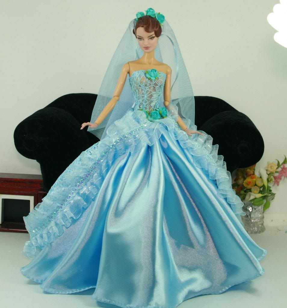 APHRODAI Fashion Silkstone Barbie Model Gown Outfit Dress for Dolls ...