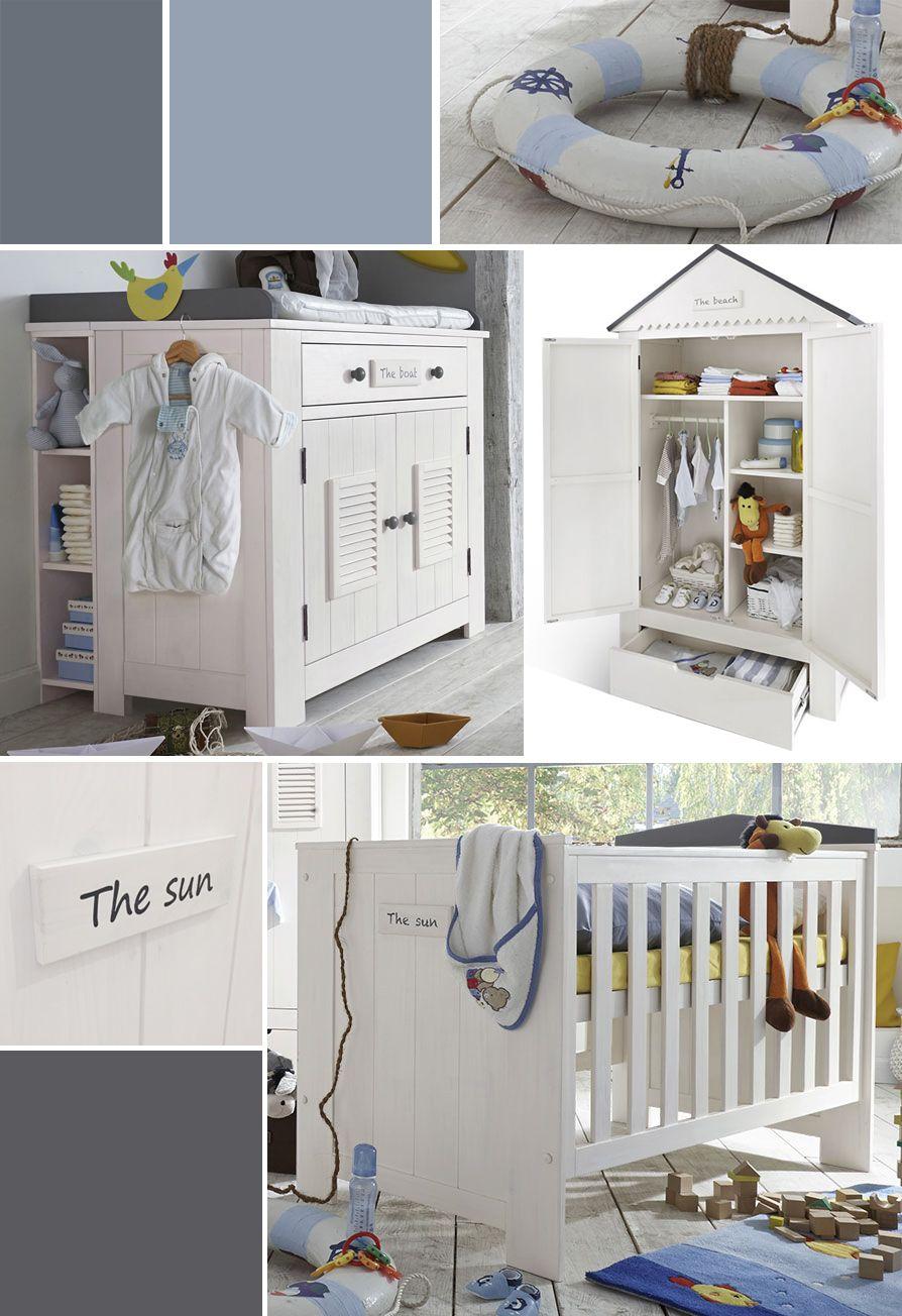 Maritimes Babyzimmer in neutralen Farben mit passendem Zubehör ...