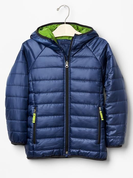 c8eeaac64 Boy Puffer Winter Jacket Hood Water-repellent Navy GAP PrimaLoft Eco ...