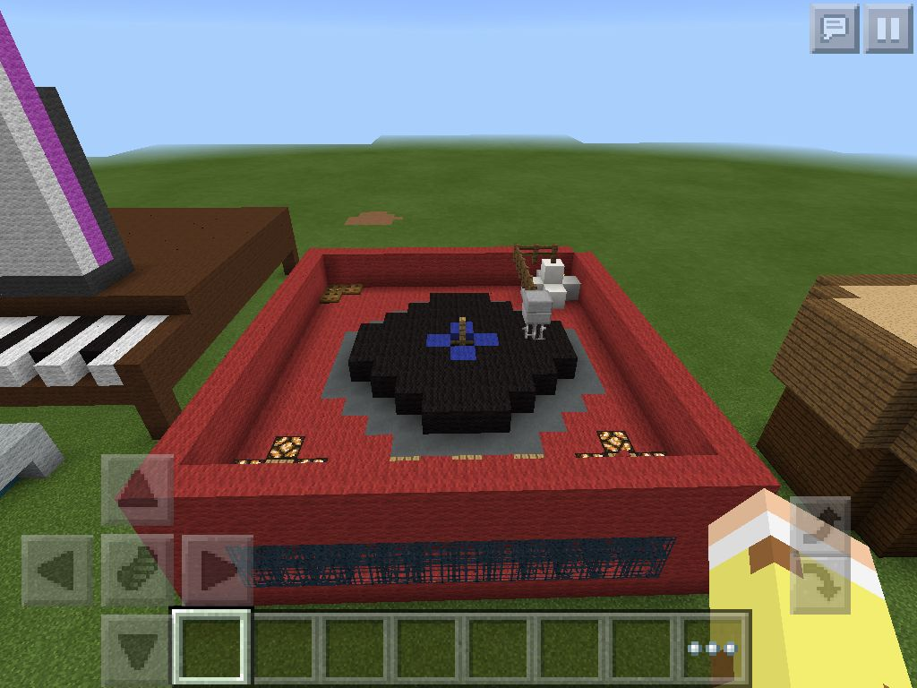 Awesome Record Player House Minecraft Poker Table