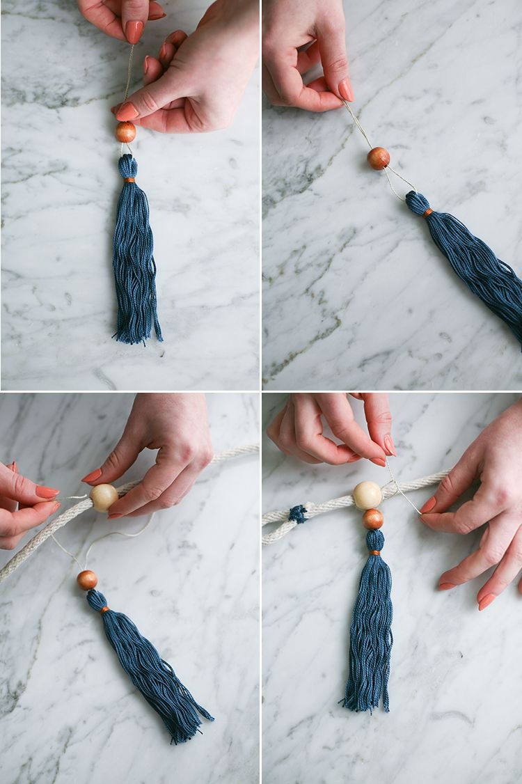 Add A Bohemian Finishing Touch To Your Dining Room Interior Design With These DIY Boho Curtain Tie Backs Wooden Beads And Handmade Tassels