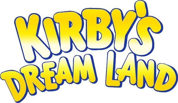 Kirby S Dream Land Logo Kirby Dreamland Dream