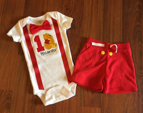 1d720c160 Winnie the Pooh 1st birthday outfit , Boys birthday outfit, Baby boy first  birthday, winnie party, p