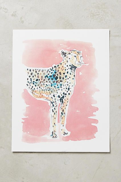Carly Cogill Chromatic Leopard Print   Wall Art   Pinterest