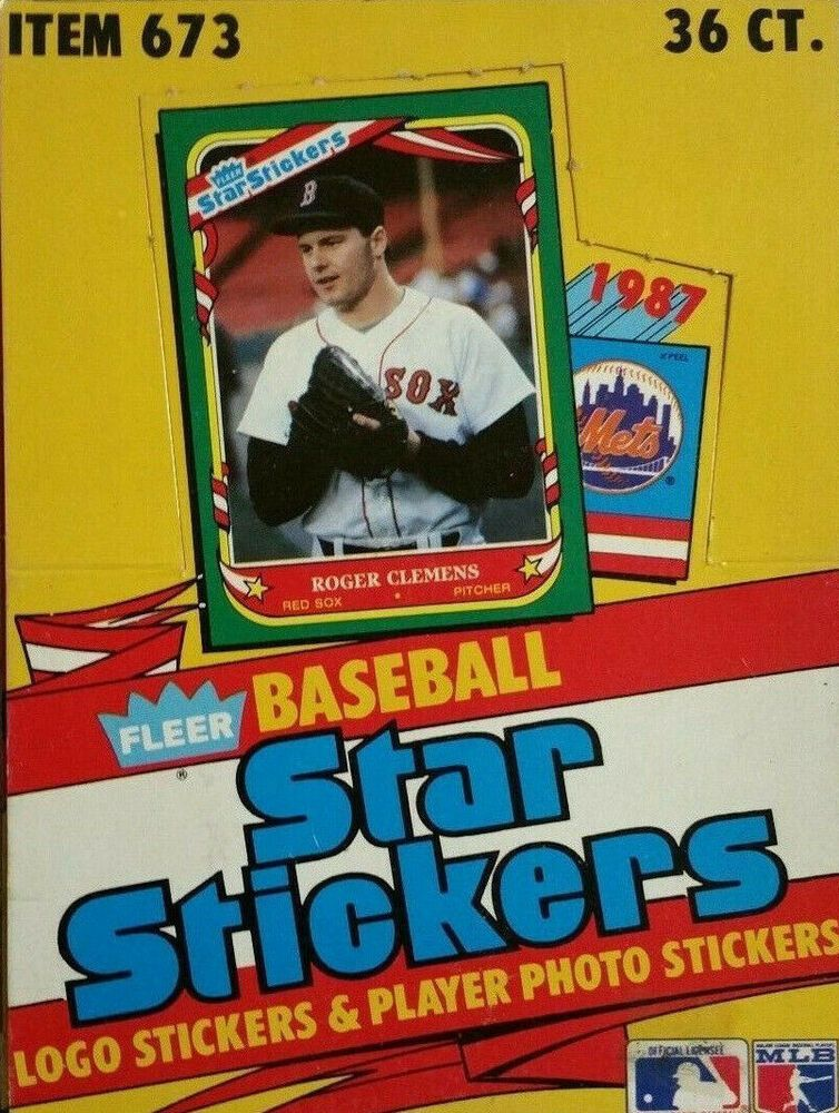 1987 Fleer Star Stickers Baseball Team Set Baseball Cards