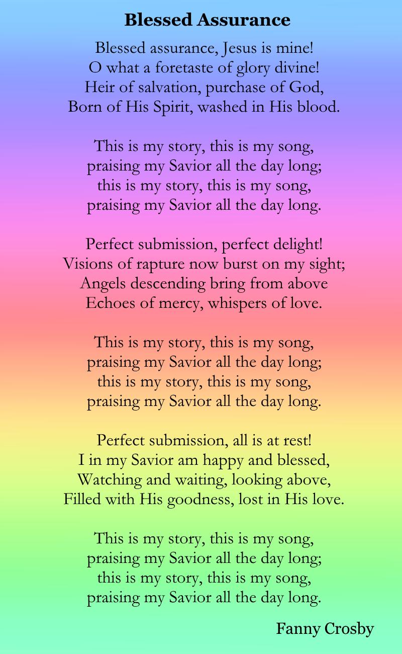 Blessed Assurance #gospelmusic #gospel #hymn #jesus #rainbow