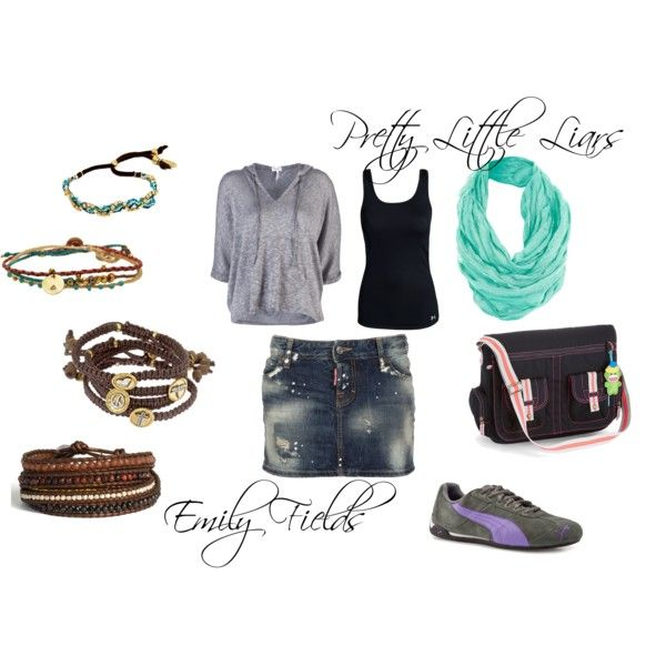 Emily Fields, created by #oliviairene14 on #polyvore. #fashion #style #Splendid Under Armour