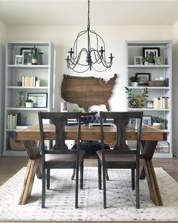 Tips to Styling Beautiful Bookshelves | The Blue Hue House #dinningroom #dinning #dinningtable #diningroom #diningroomideas #diningroomdecorating