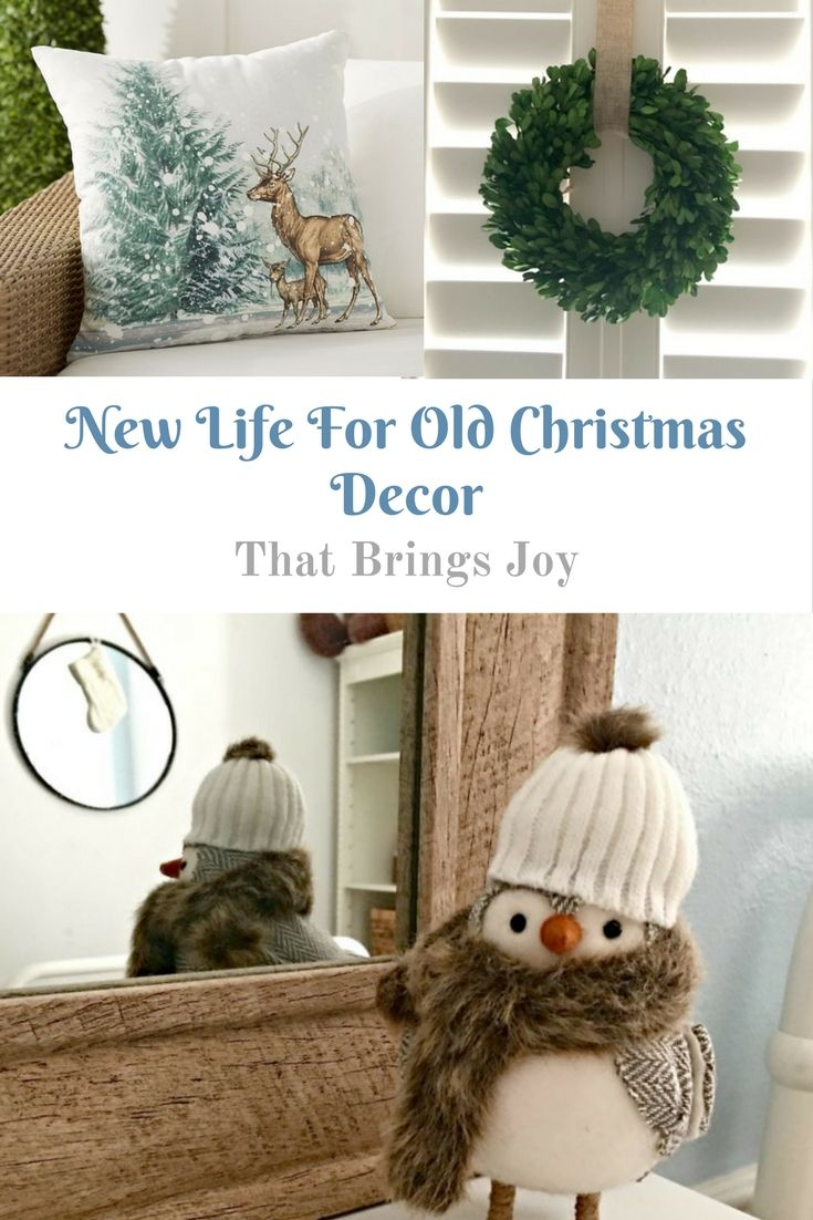 new life for old christmas décor that will bring you joy. bow