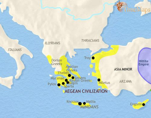 Ancient greece interactive animated history map from timemaps minoan civilization emerged around 2000 bc and lasted until 1400 bc world history timeline ancient minoan civilization sciox Choice Image