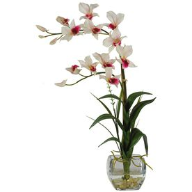 Nearly Natural�22-in White Dendrobium Orchid
