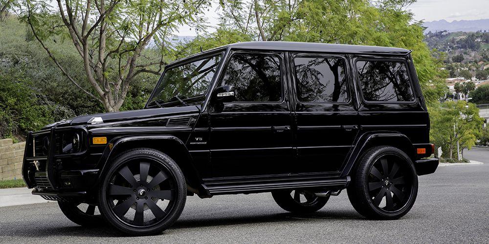Cars gallery mercedes benz g wagon black forgiato for Black mercedes benz g wagon