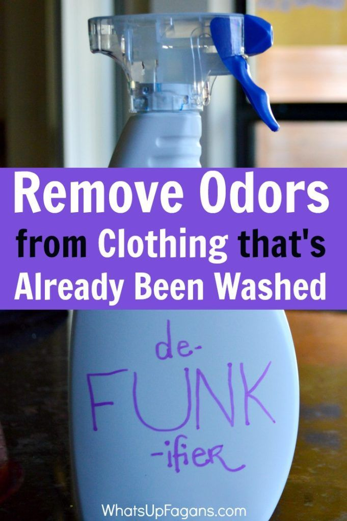 The MOST amazing way to remove odor from clothes, especially when clothes  smell after washing