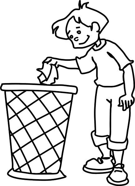 Pin By Michael Brandtner On Picassos Lehrling Clip Art Clipart Black And White Dustbin